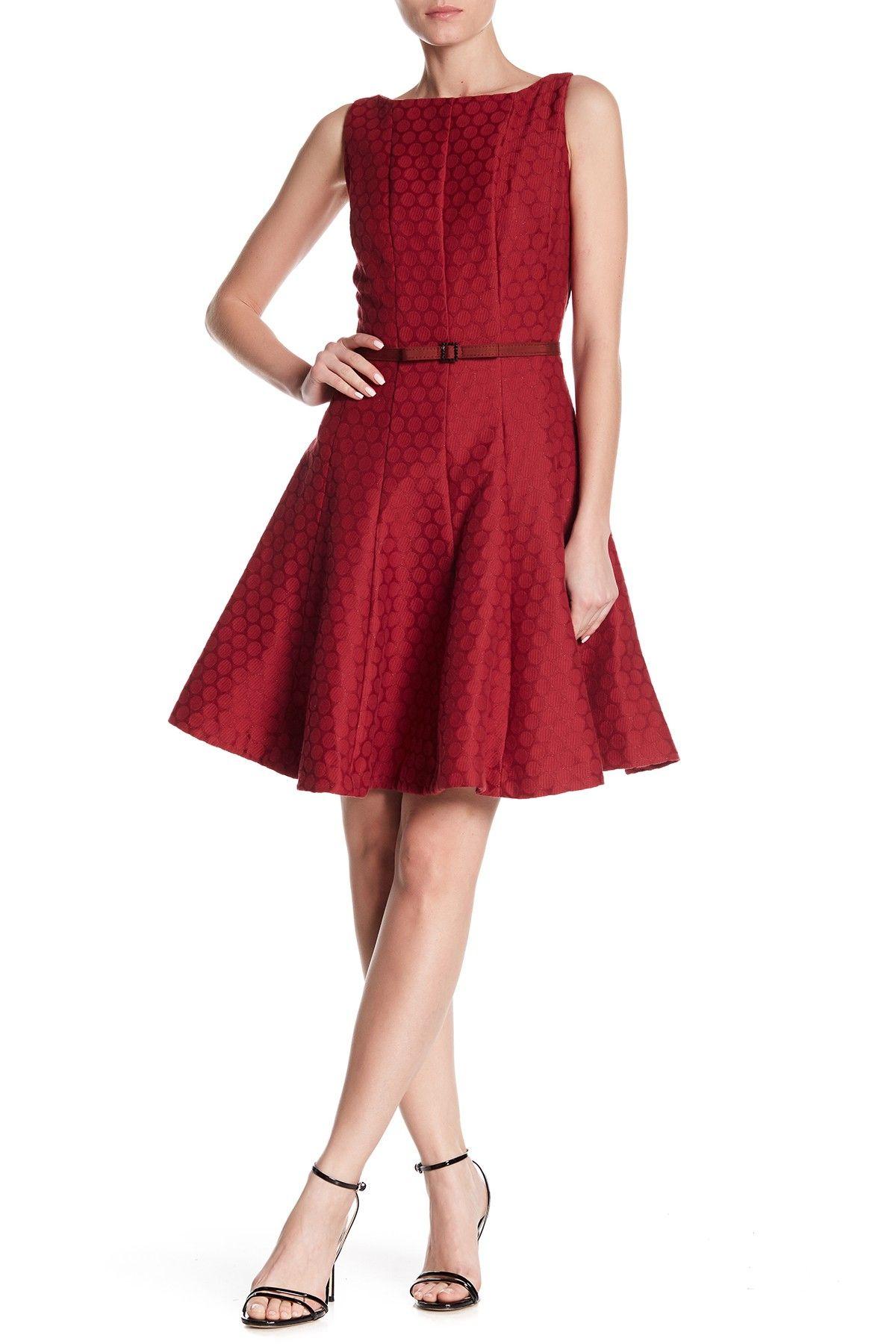 0e68c697631 Dot Print Waist Belt Dress by Gabby Skye on  nordstrom rack Short  Bridesmaid Dresses