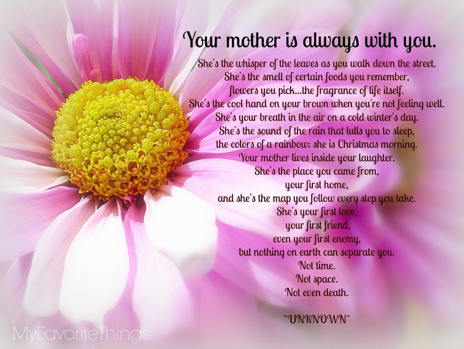 Your Mother Is Always With You Mom Mothers Mother Happy Mothers Day