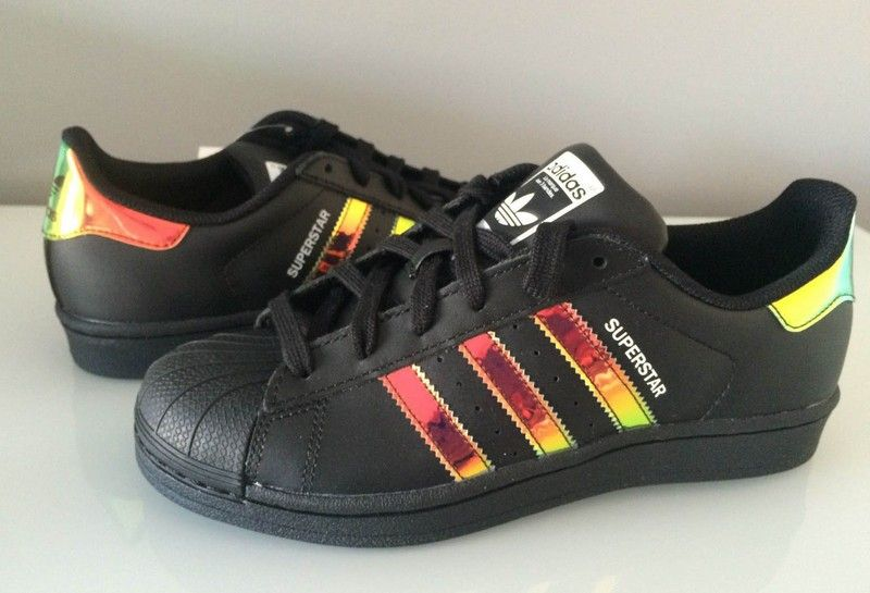 adidas superstar black iridescent