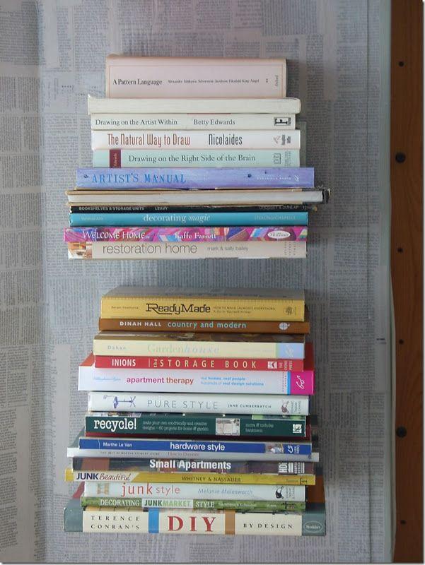 Floating Bookshelves Cool Ideas Pinterest Estantería invisible