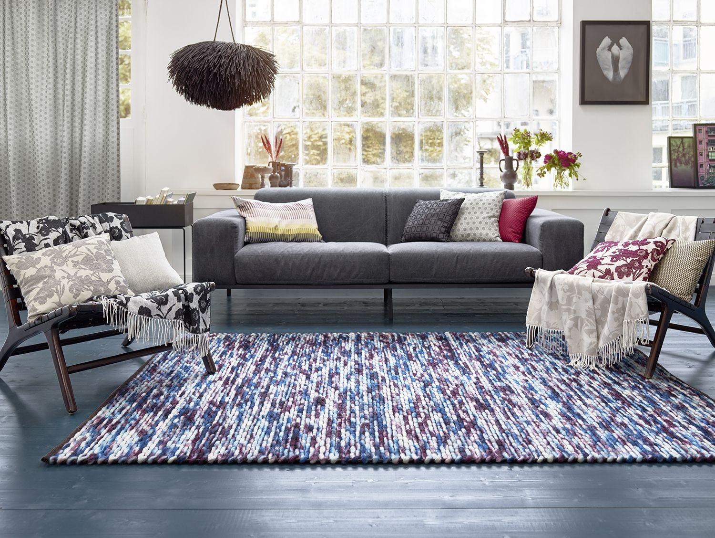 esprit kurzflor kelim teppich aus wolle reflection blau lila beige esprit home area rugs. Black Bedroom Furniture Sets. Home Design Ideas