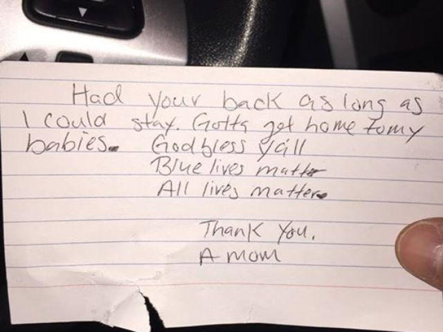 Anonymous note leaves SAPD officer stunned and grateful | We