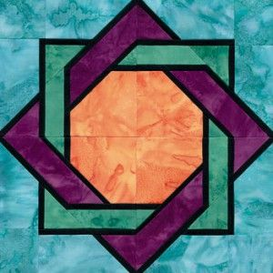 quilts with just square blocks | Stained Glass Interlocked Squares Quilt Block Pattern