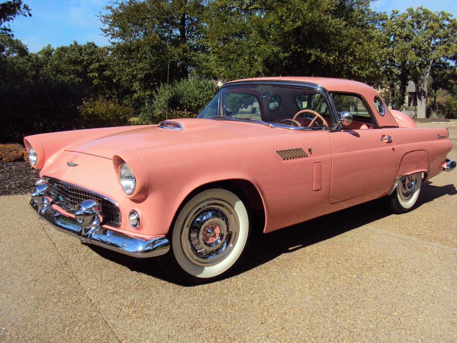 All American Classic Cars 1956 Ford Thunderbird 2 Door Convertible Coches Clasicos Autos Y Motos Y Autos