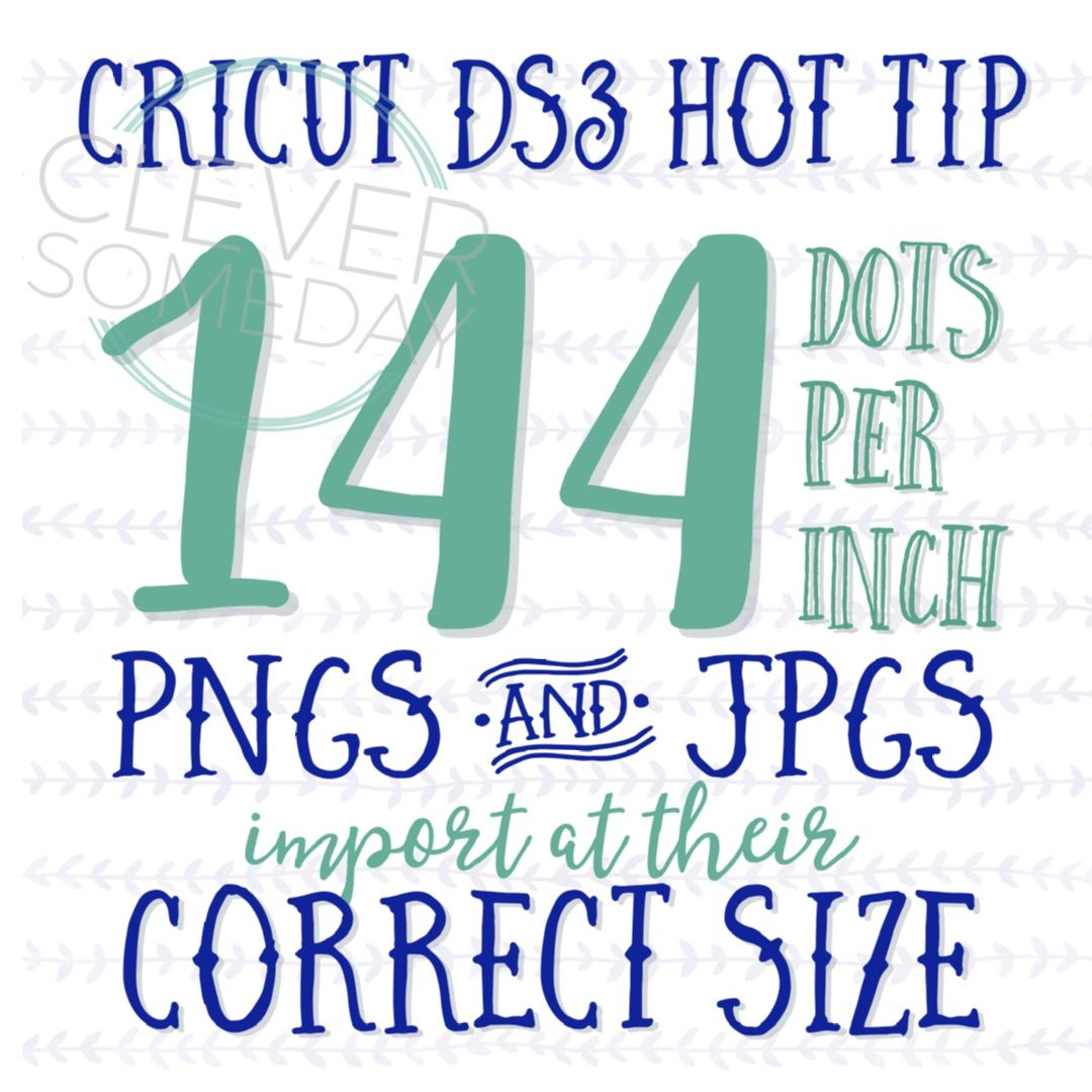 Better image sizing in Cricut Design Space 3 Scan images at 288 if