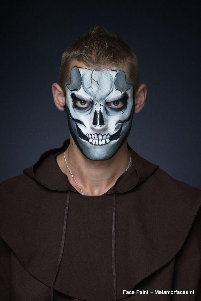 skull schmink . facepaint skelet | facepaint schmink creepy