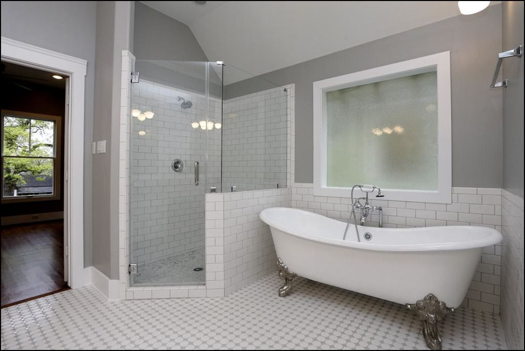 Bathroom With Clawfoot Tub And Separate Shower With Images