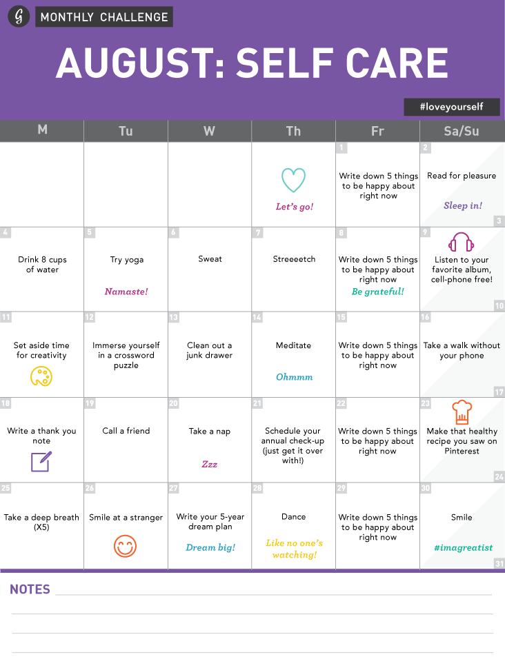 Nehmen Sie an der 30-Tage-Self-Care-Challenge von Greatist teil!   – when the spiritual side of me comes out
