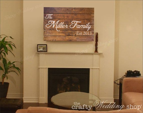 Wood Plank Wall Decoration Family Name by TheCraftyWeddingShop ...