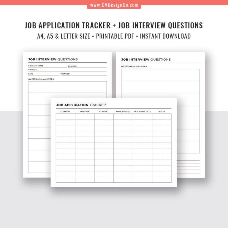 Job application tracker 2020 interview questions