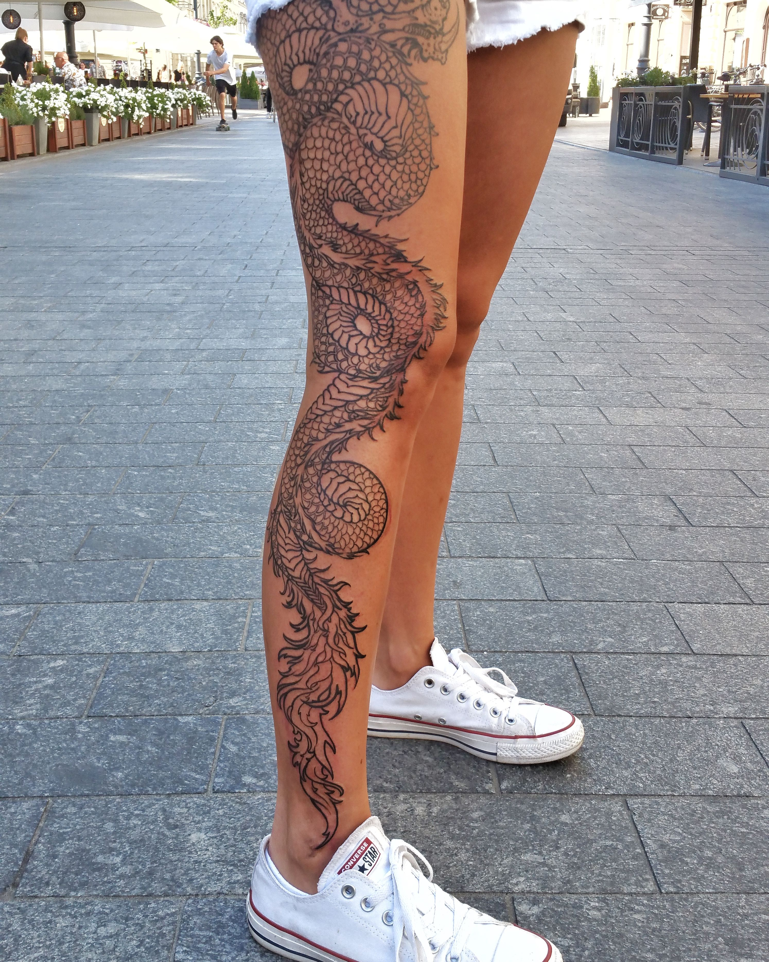 Dragon In 2020 Girl Leg Tattoos Leg Tattoos Women Dragon Tattoo Designs