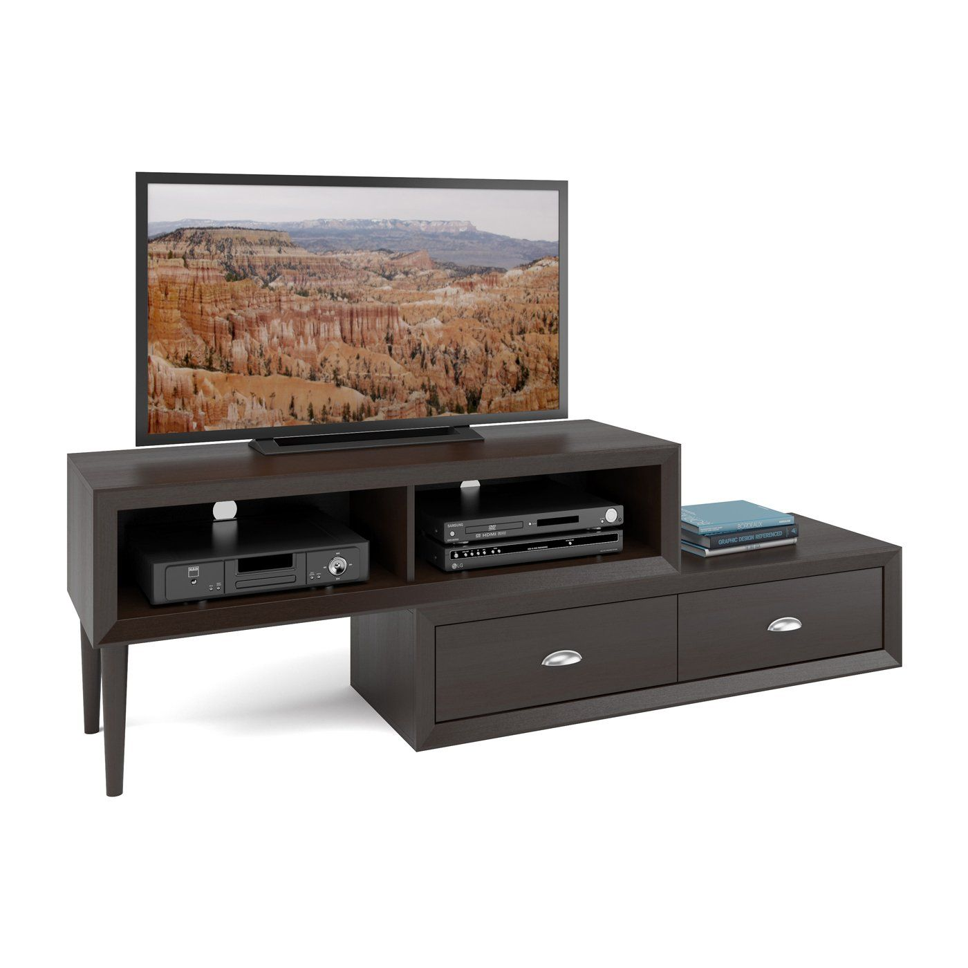 CorLiving TLK883B Lakewood TwoTiered Adjustable TV