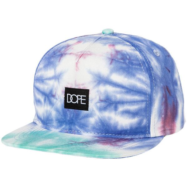 a7e9342d458 DOPE The Tie Dye Snapback in Purple and Teal ( 35) ❤ liked on Polyvore