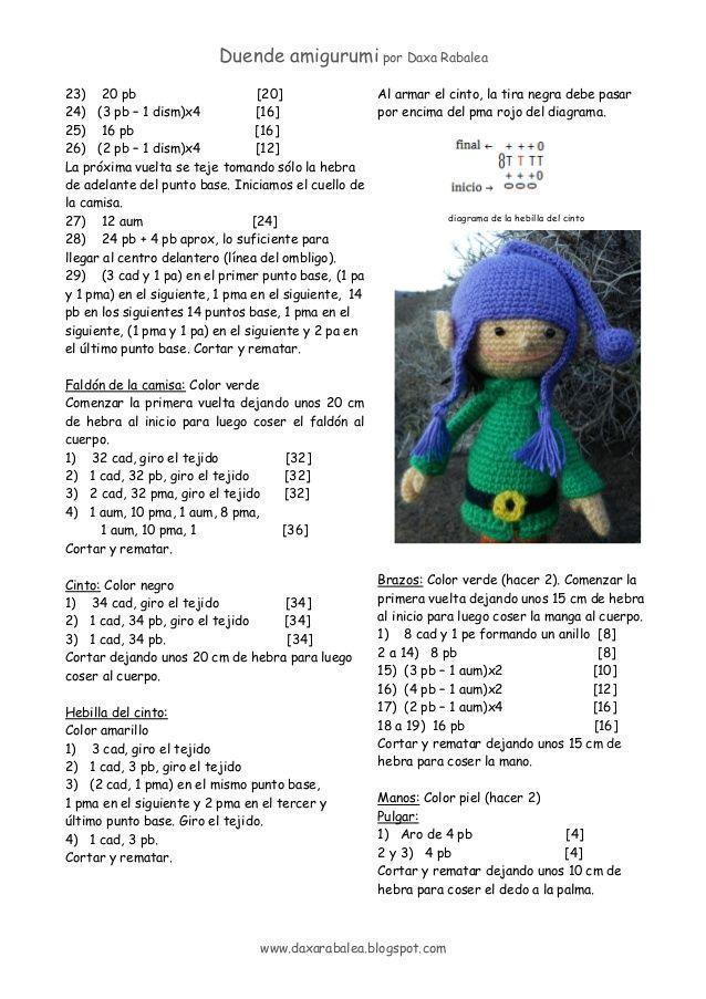 patrón Duende amigurumi | croche | Pinterest | Duendes, Patrones y ...