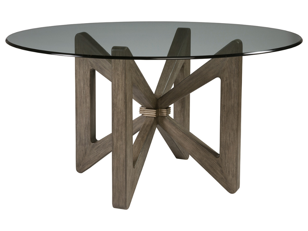 Butterfly Round Dining Table With Glass Top Lexington Home Brands In 2020 Dining Table Round Dining Table Contemporary Dining Room Tables
