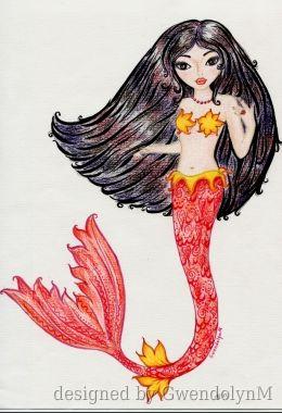 Ruby Red Mermaid