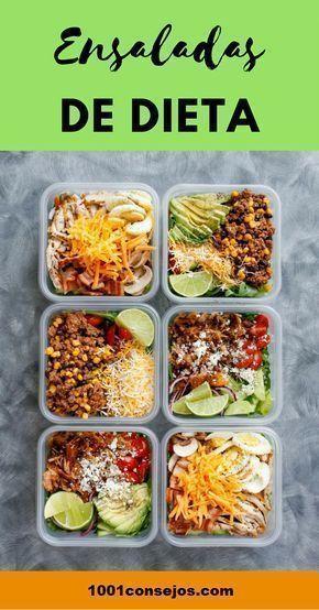 Estas 4 Ensaladas Te Ayudaran A Bajar De Peso Rapidamente Ensaladas Para Bajar De Peso Recetas Ensaladas Verdes Para Ad Health Food Healthy Recipes Healthy