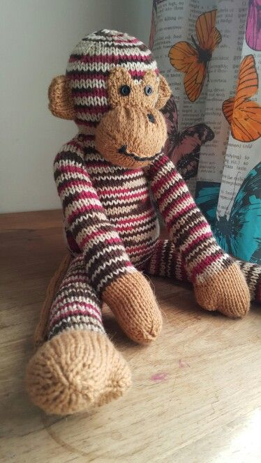 Monkey. Knitting pattern from 'knitted wild animals ' by ...
