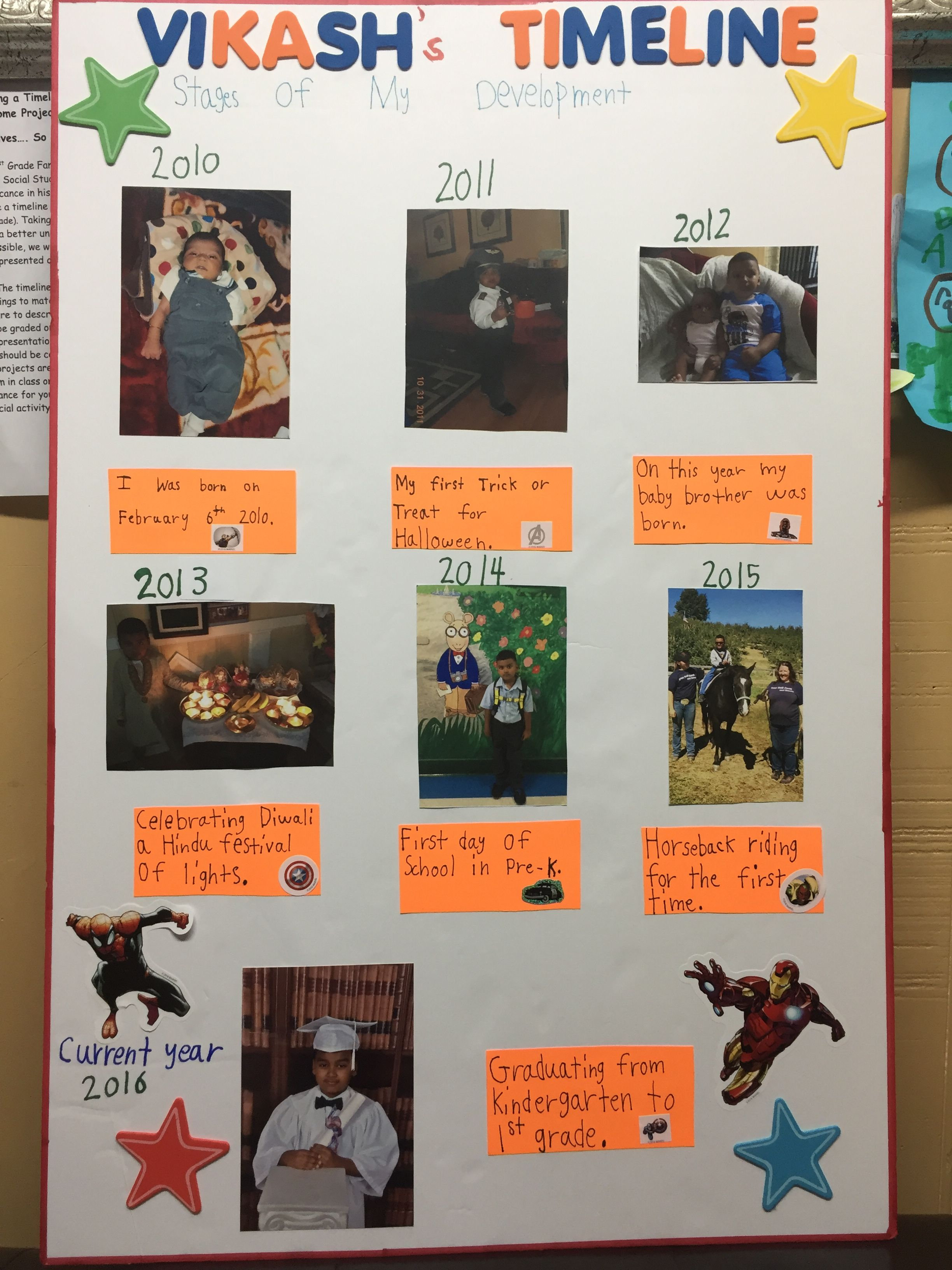 First Grade Timeline Project