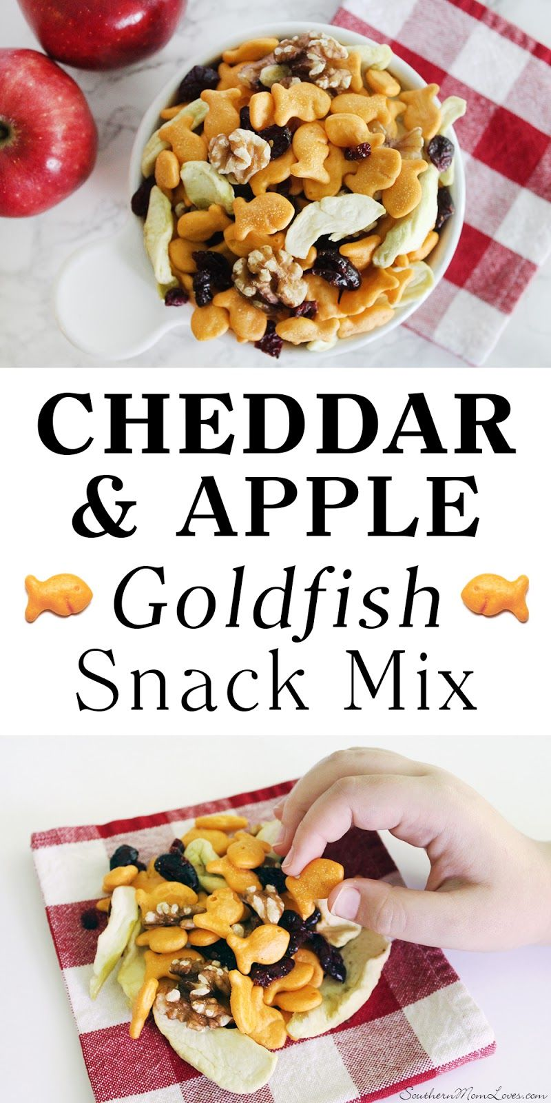 Cheddar and Apple Goldfish Snack Mix Recipe  It's what we