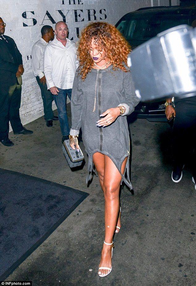 8947204759b Looking leggy  Rihanna arrived at West Hollywood nightclub The Sayers Club  on Thursday night
