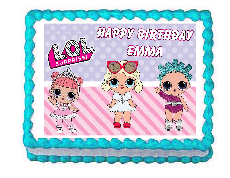 L O L Surprise Lol Surprise Party Edible Cake Image Cake Topper