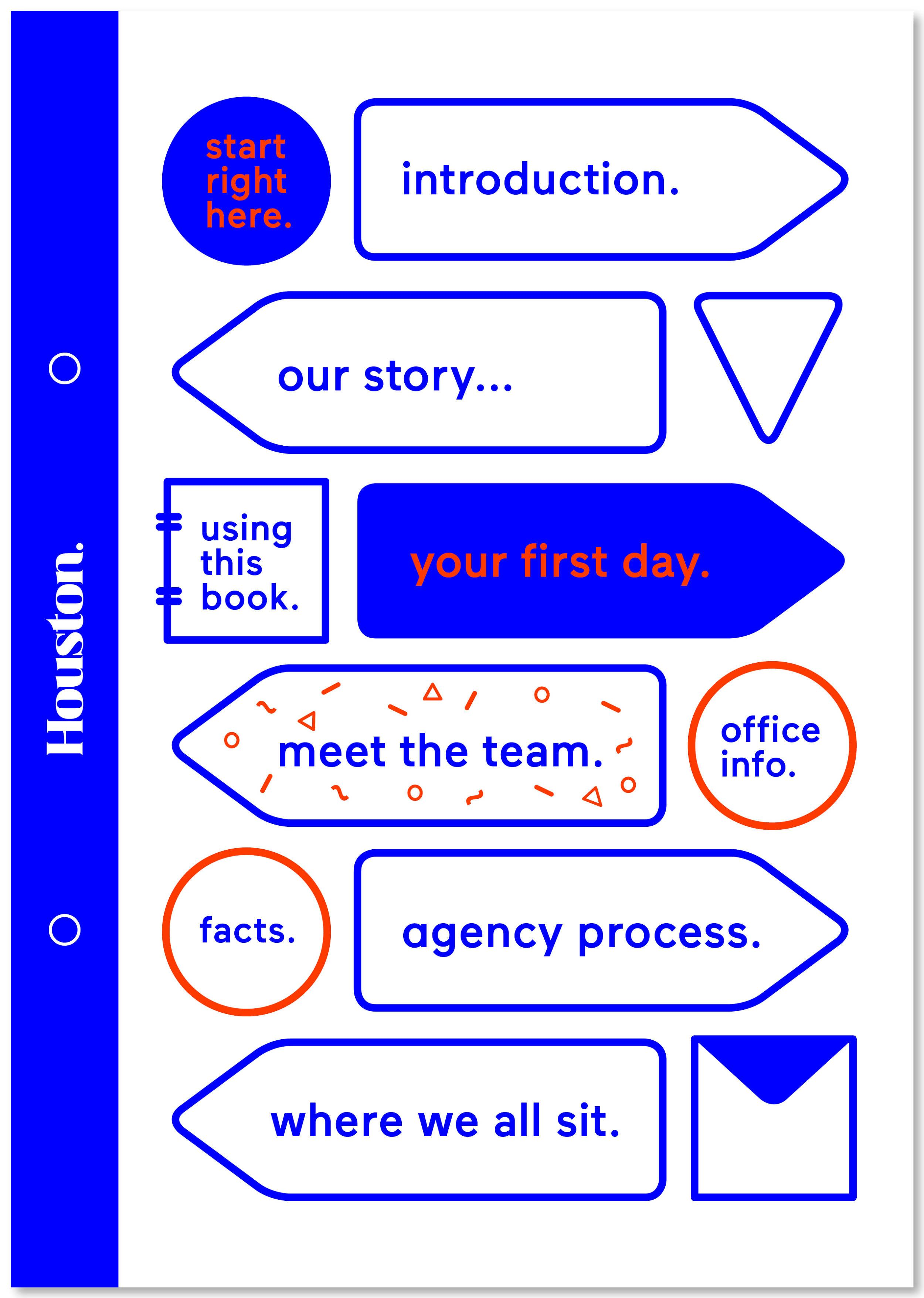 A selection of pages from the Houston Group Employee handbook.