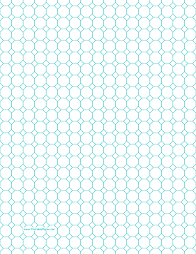 Printable Octagon Graph Paper With Inch Spacing On Letter