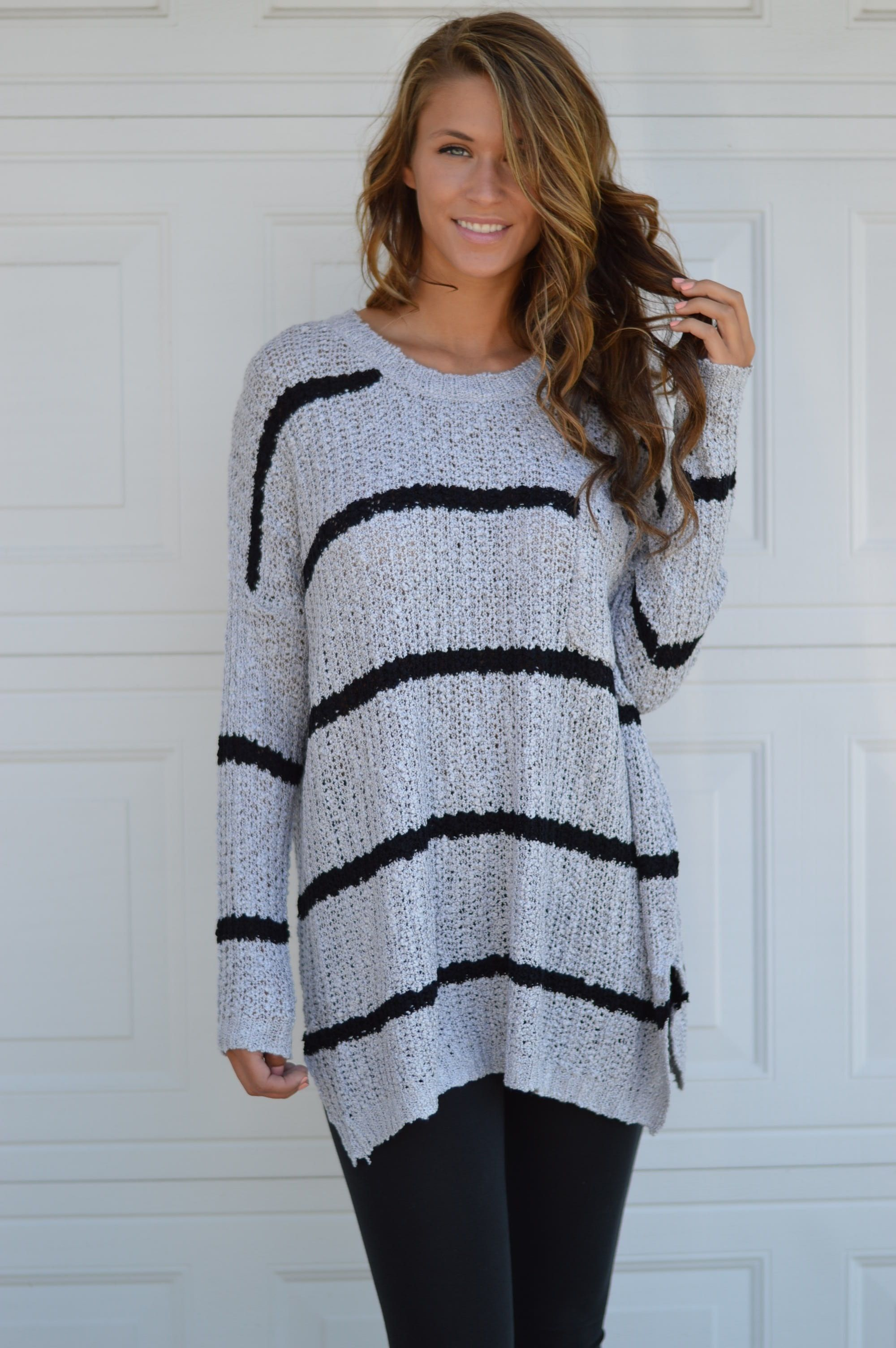 Grey Stripe Sweater | The Perfect Oversized Sweater that you need ...