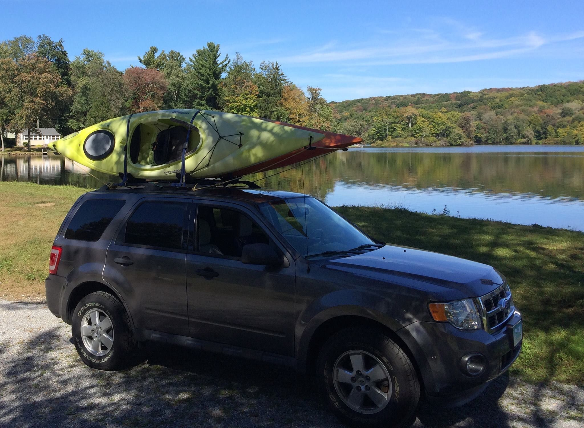 2011 Ford Escape With Kayaks By The Lake Ford Escape Kayaking