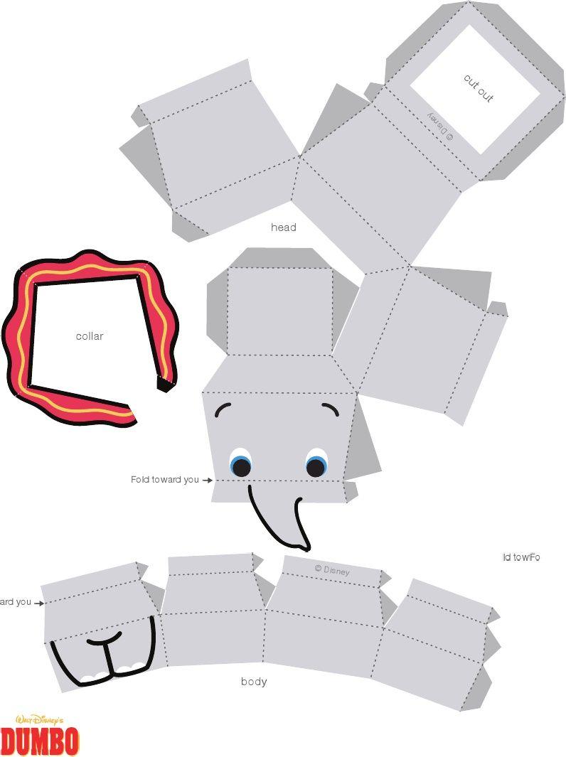 Dumbo Cutie Papercraft Printable 0711 Pdf Scribd Paper Crafts
