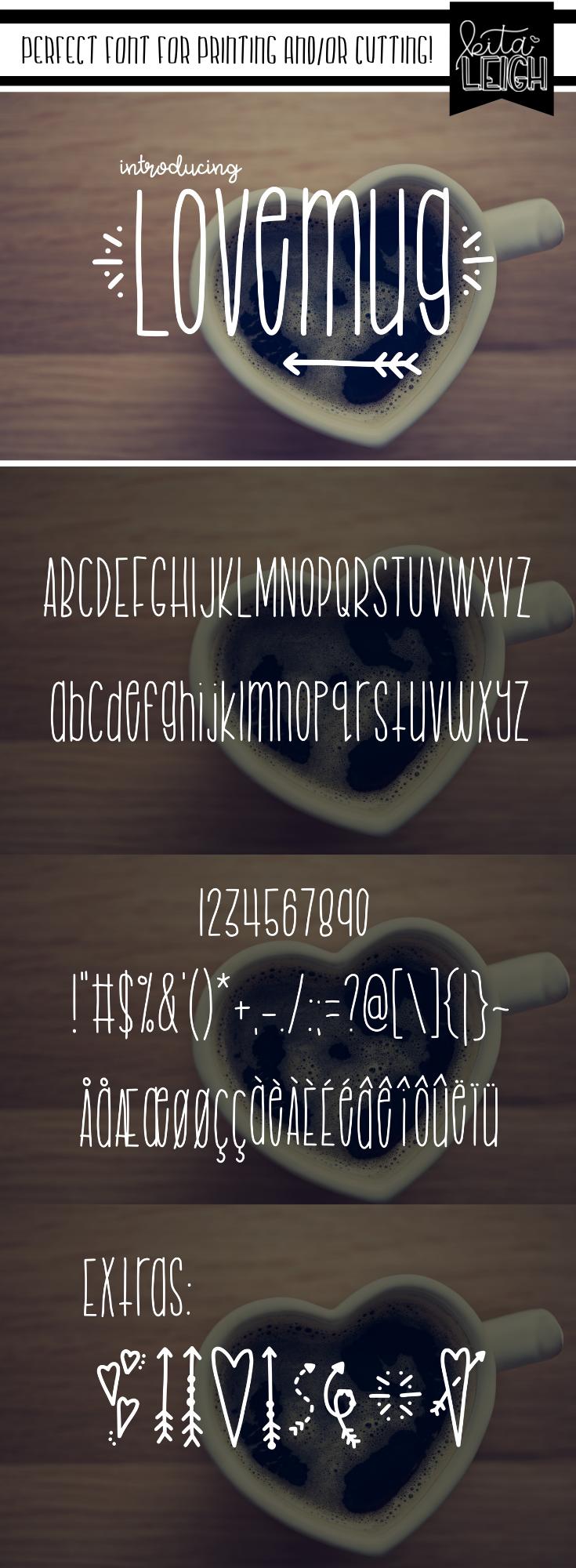 Lovemug Skinny fonts, Lettering, Word fonts
