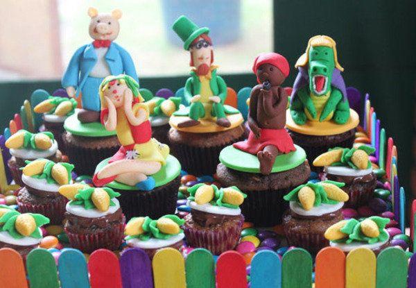 Cupcakes de personagens do Sítio do Pica Pau Amarelo