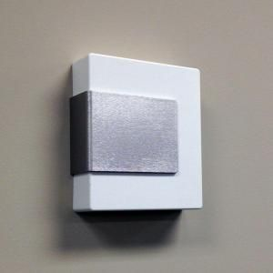 Low Voltage Transformer Home Depot Hampton Bay Wireless Or Wired Door Bell White With Brushed Nickel