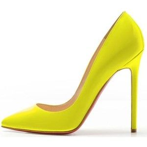 lowest price 53b21 afc1e Yellow Christian Louboutin pumps | •SHOES• | Christian ...