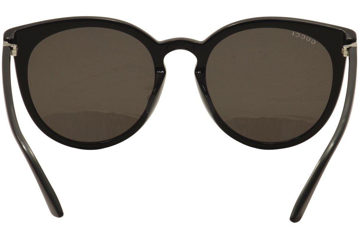 Gucci Herren Sonnenbrille GG0064SK 002, Schwarz (Black/Silver), 55