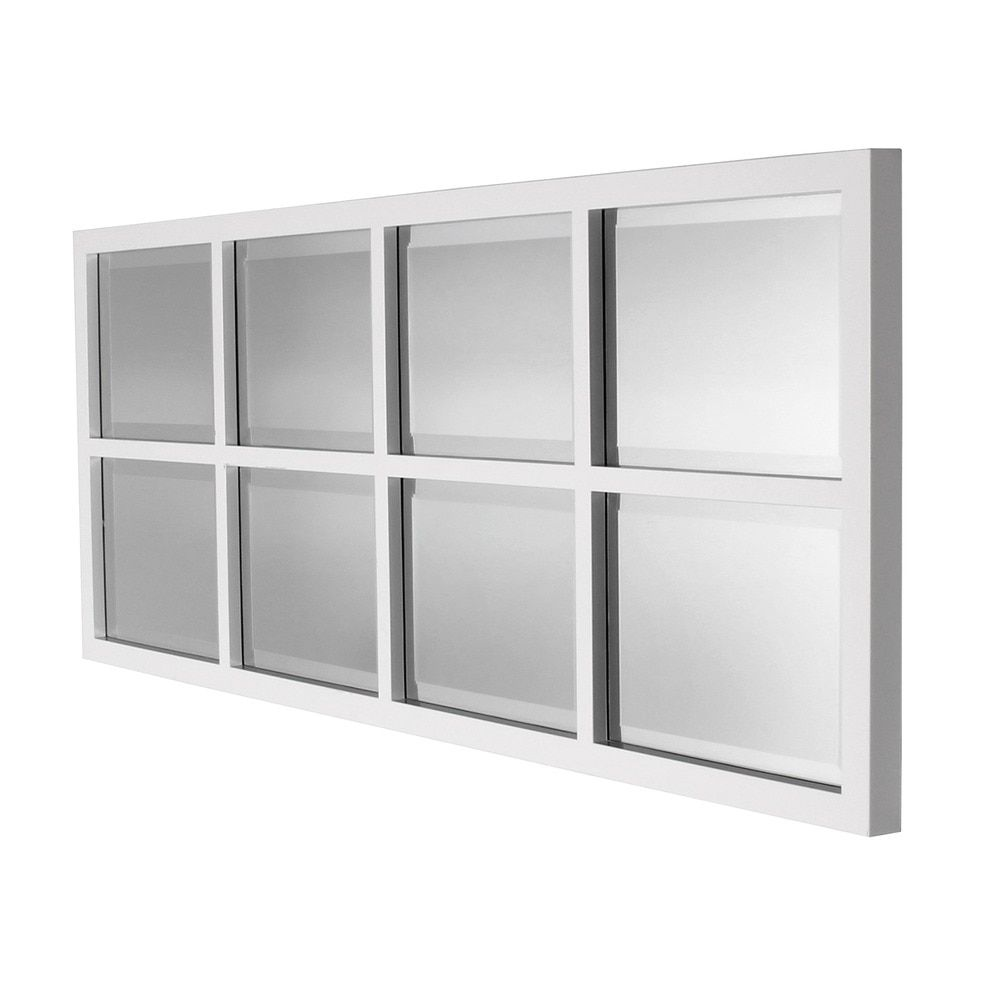 Kate and Laurel Stryker 8-pane Window Framed Wall Mirror | Craft ...