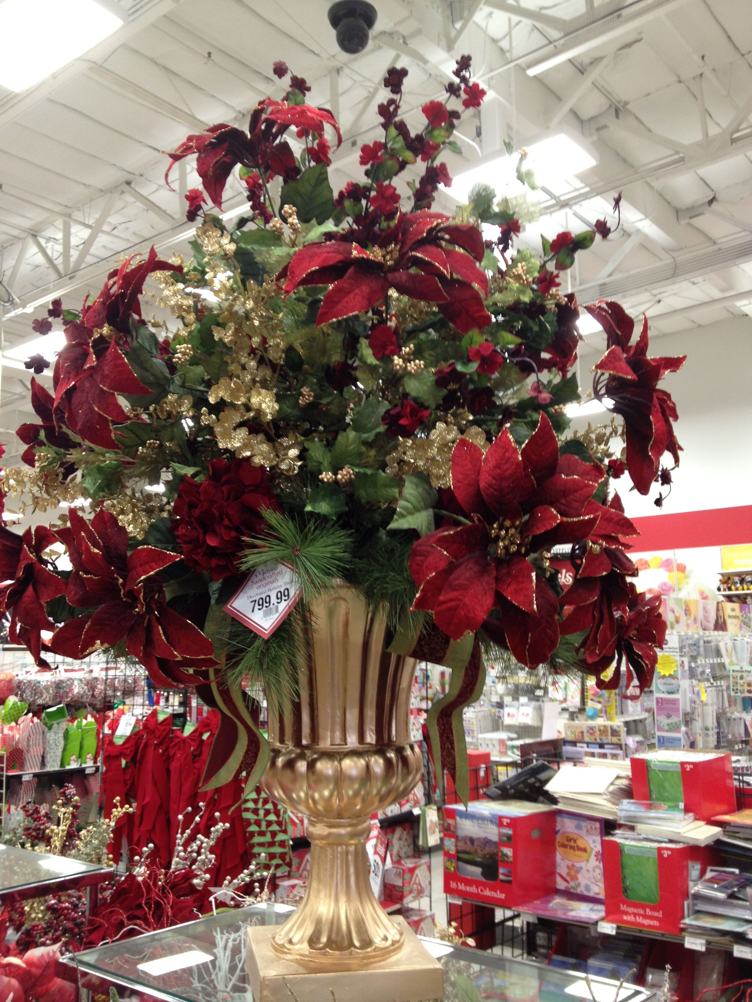 Christmas Traditions Entryway Floral Arrangement Designed