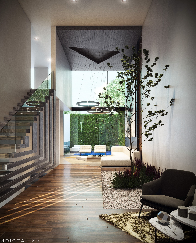 Cmc house kristalika arquitecture and interior design for Lujo interiores minimalistas