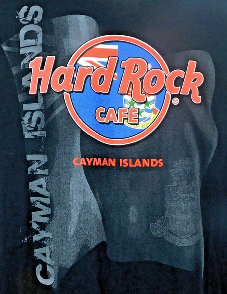 Hard Rock Cafe Cayman Islands Country Flag Crest Graphic T-shirt M ...