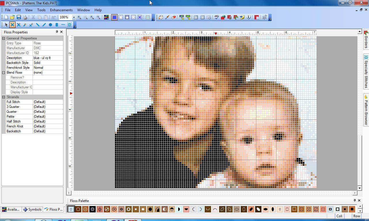 Перевод фото в схему для вышивания бисером