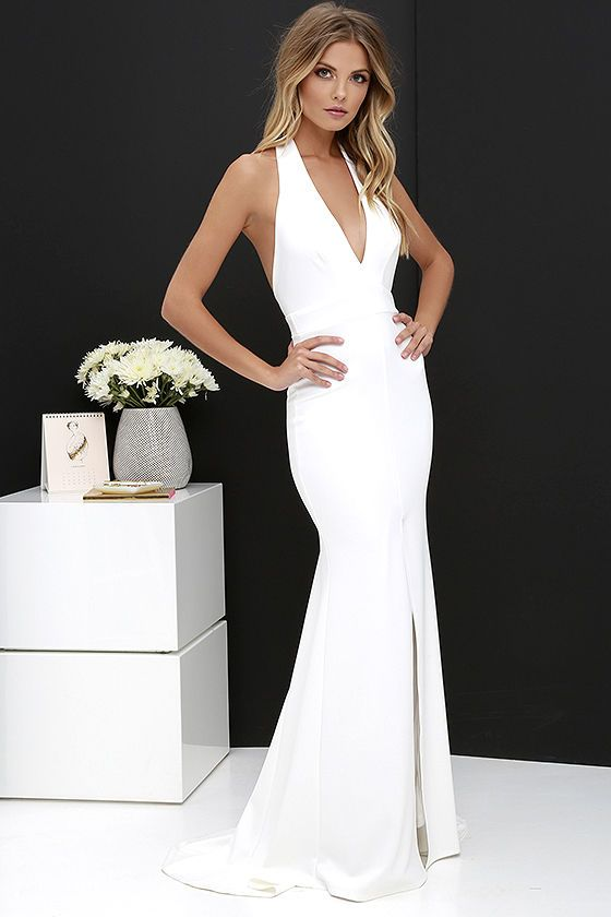 7f22545948 Time Out of Mind Ivory Halter Maxi Dress at Lulus.com!