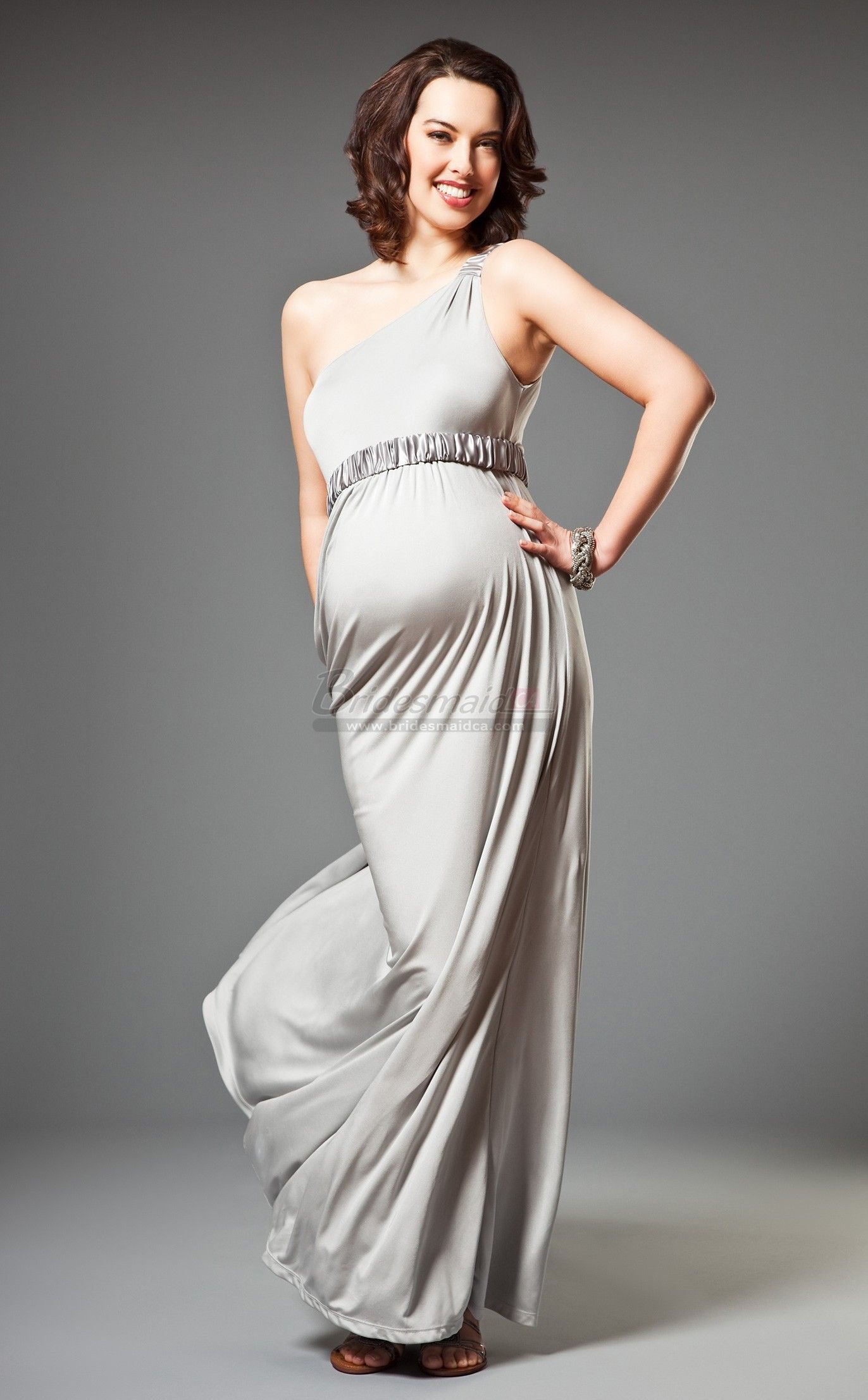 Bridesmaiddresses ankle length one shoulder silver knitwear bridesmaiddresses ankle length one shoulder silver knitwear maternity bridesmaid dress mdca 001 ombrellifo Choice Image