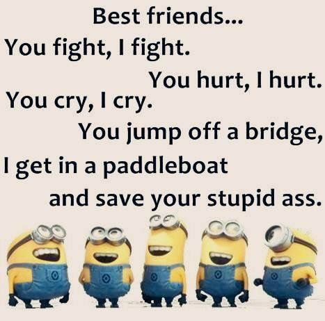 Image result for minion best friends...you fight, i fight