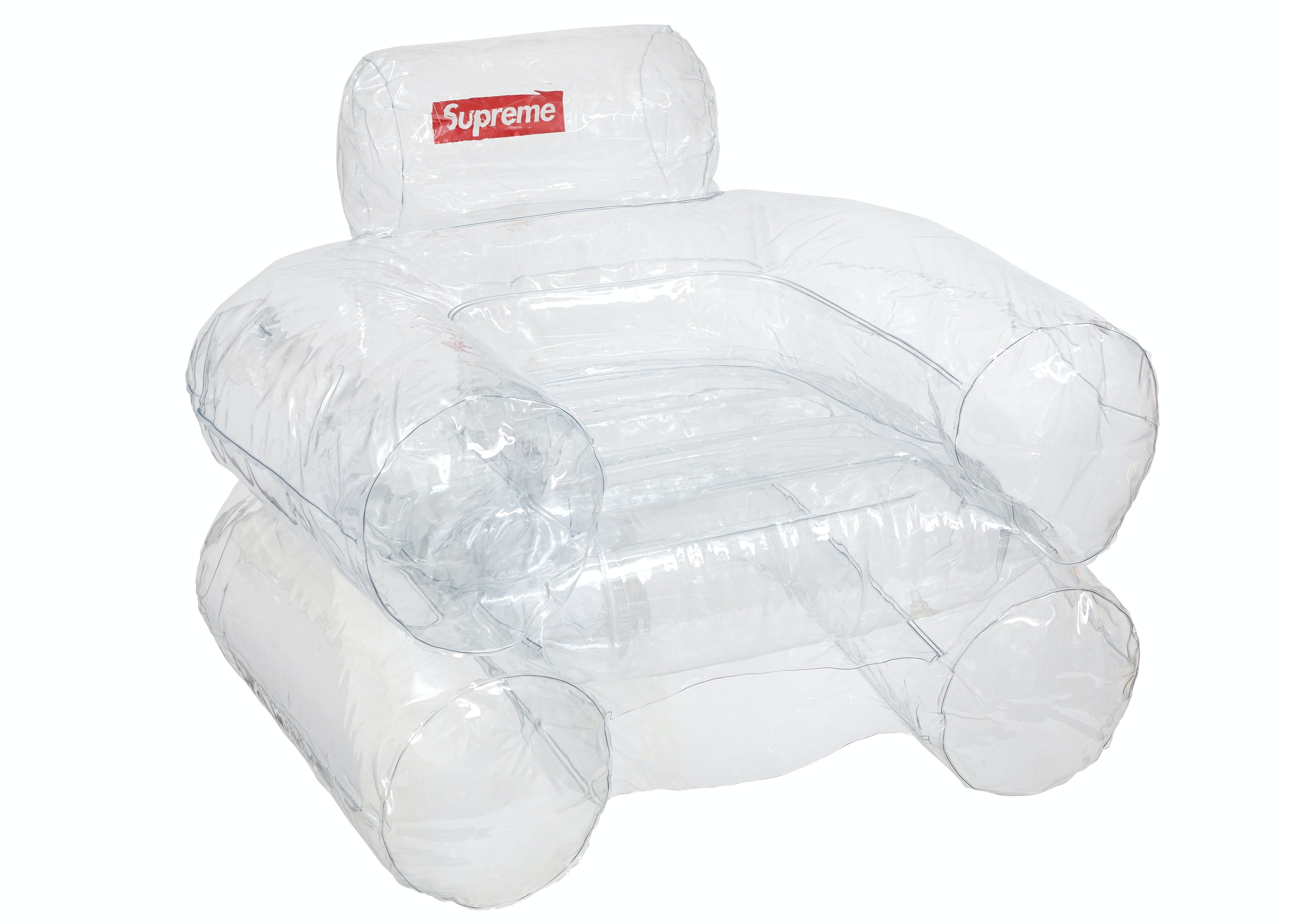 Supreme Inflatable Chair Clear In 2020 Inflatable Chair Plastic Chair Armchair Design