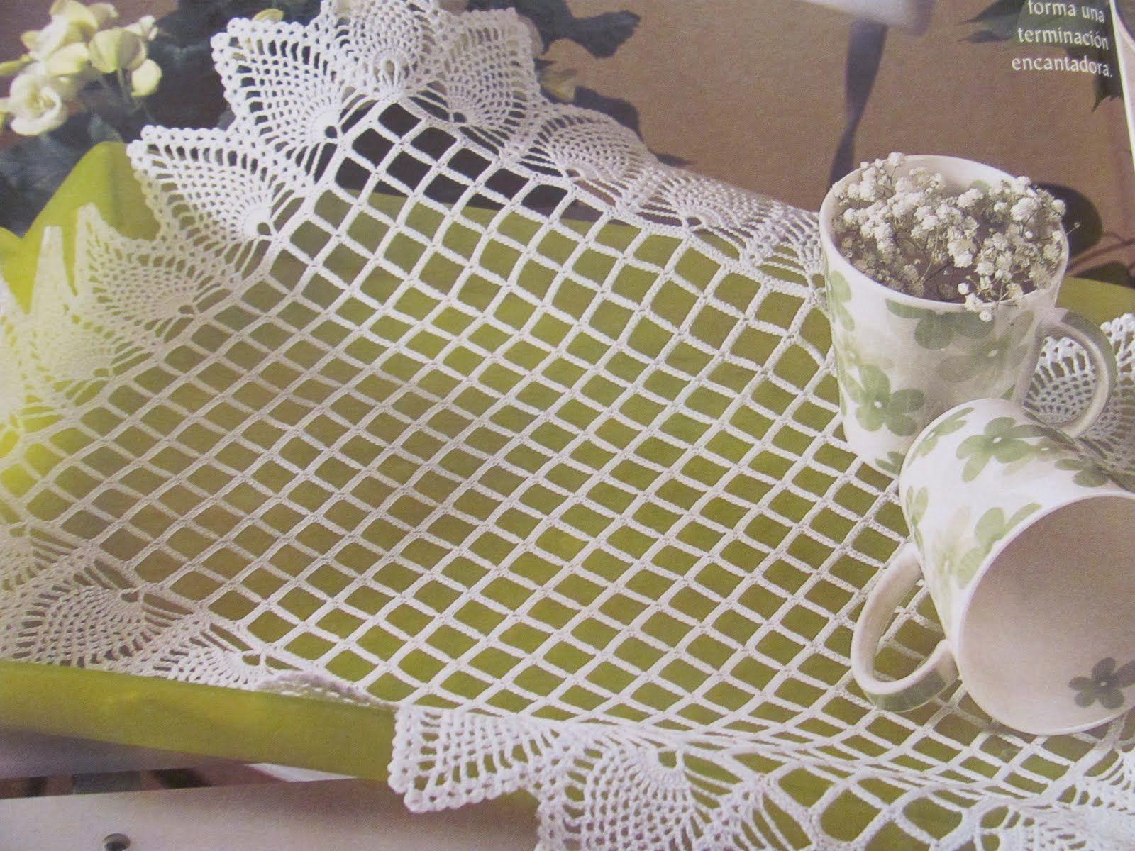 crochet-divertido1: explicacion tapete o paño orillado en piñas
