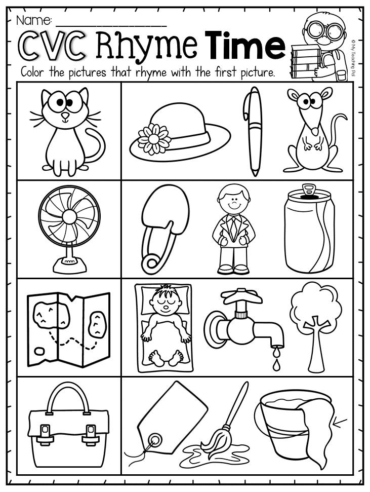 Short A Cvc Worksheet Pack With A Bonus Literacy Center Rhyming Words Kindergarten Rhyming Activities Preschool Rhyming Words Worksheets