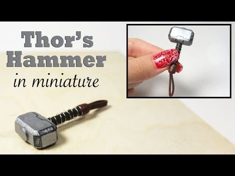 diy thor s hammer in miniature youtube dollhouse pinterest