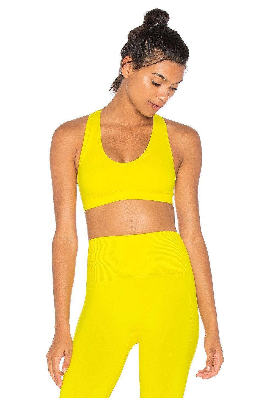 Touche LA x STEWART Cross Back Sports Bra in Yellow