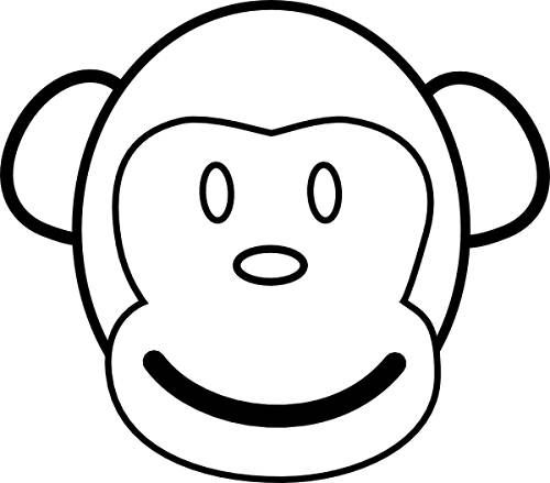 Coloring Page Monkey Face